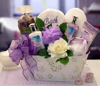 Tranquil Delights Spa Gift Basket