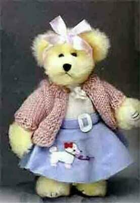 Sock hop 1950's bear with poodle skirt