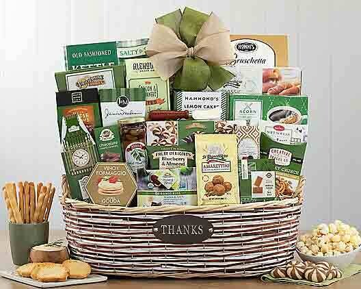 Elegant Thank You Gift Basket