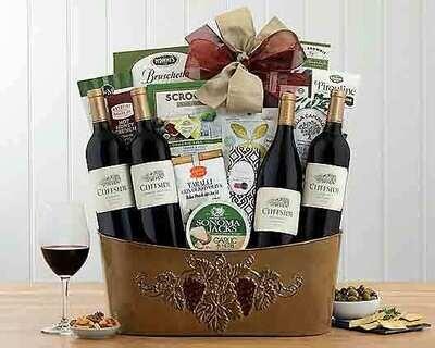 Wine Quartet Gourmet Gift Basket