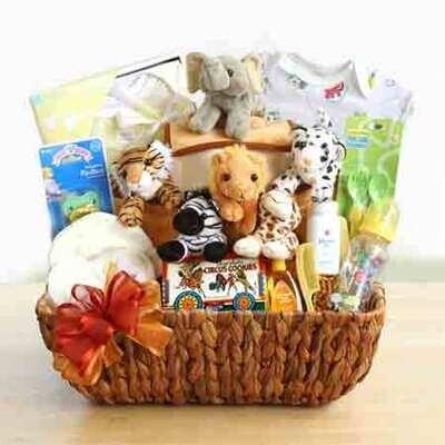 Noah's Ark Gift Basket for Baby