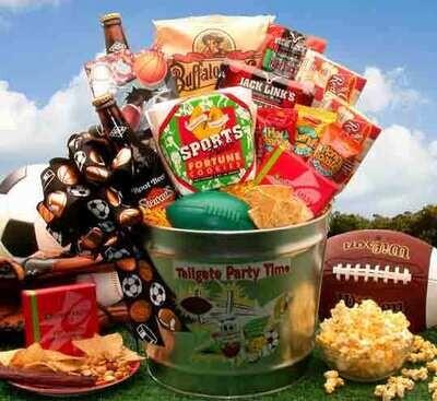 Football Tailgate Gift Basket