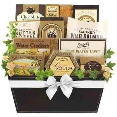 Golden Delights Gift Basket