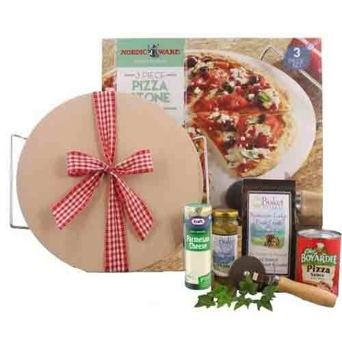 Pizza Kit with Baking Stone Gift - FREE SHIPPING
