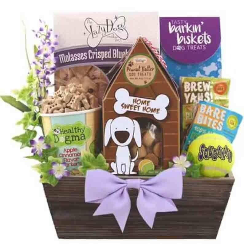 Dog Treats Gift Basket - FREE SHIPPING