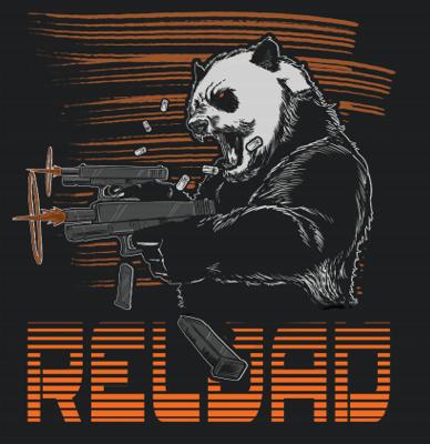 Raging Panda Reload T-Shirt