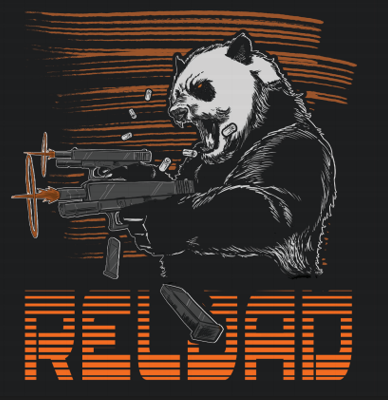 Raging Panda Reload T-Shirt