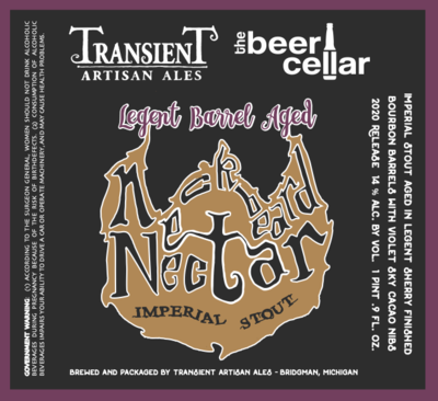 2020 Transient Neckbeard Nectar Legent Barrel 500ml
