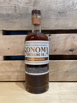 Sonoma Distilling  Cherrywood Smoked Rye Whiskey 750ml