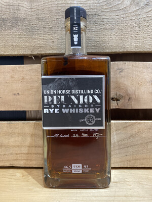 Union Horse Reunion Straight Rye Whiskey 750ml