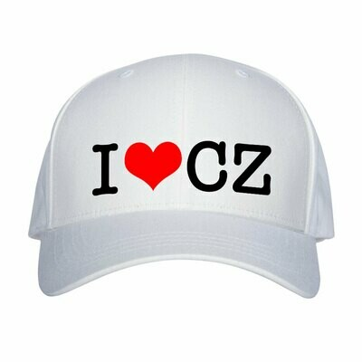 I Love CZ White Red Unisex Snapback Hat