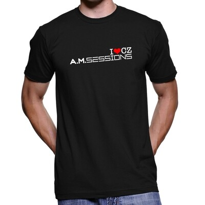 A.M. Sessions Black Red Men's T-Shirt