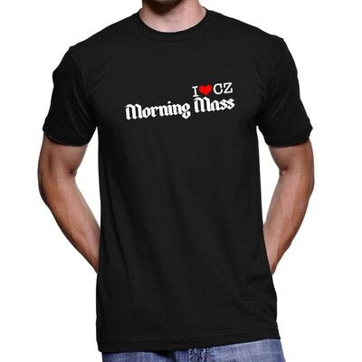 Morning Mass Black Red Men's T-Shirt