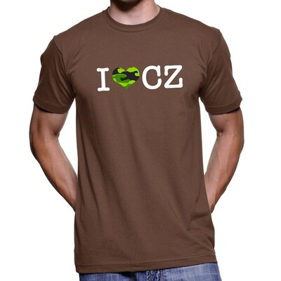 I Love CZ Noble Brown Green Camo Men's T-Shirt