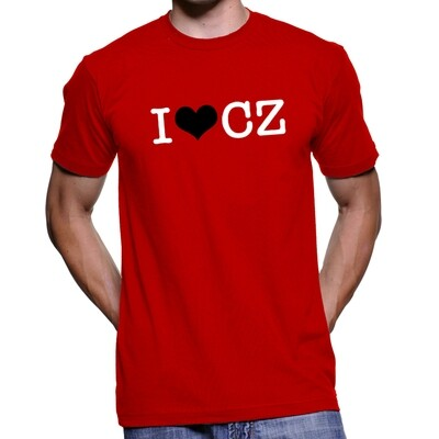 I Love CZ Red Black Men's T-Shirt