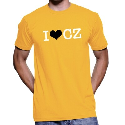 I Love CZ Sun Yellow Black Men's T-Shirt