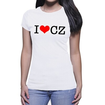 I Love CZ White Red Women's T-Shirt