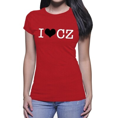 I Love CZ Red Black Women's T-Shirt