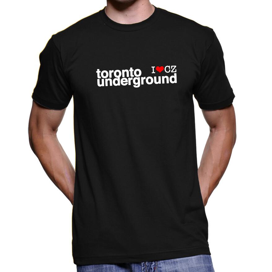 Toronto Underground CZ Black Red Men's T-Shirt
