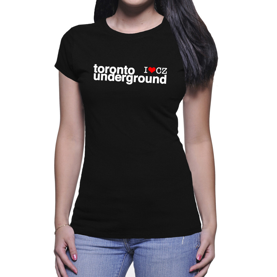 Toronto Underground CZ Black Red Women's T-Shirt