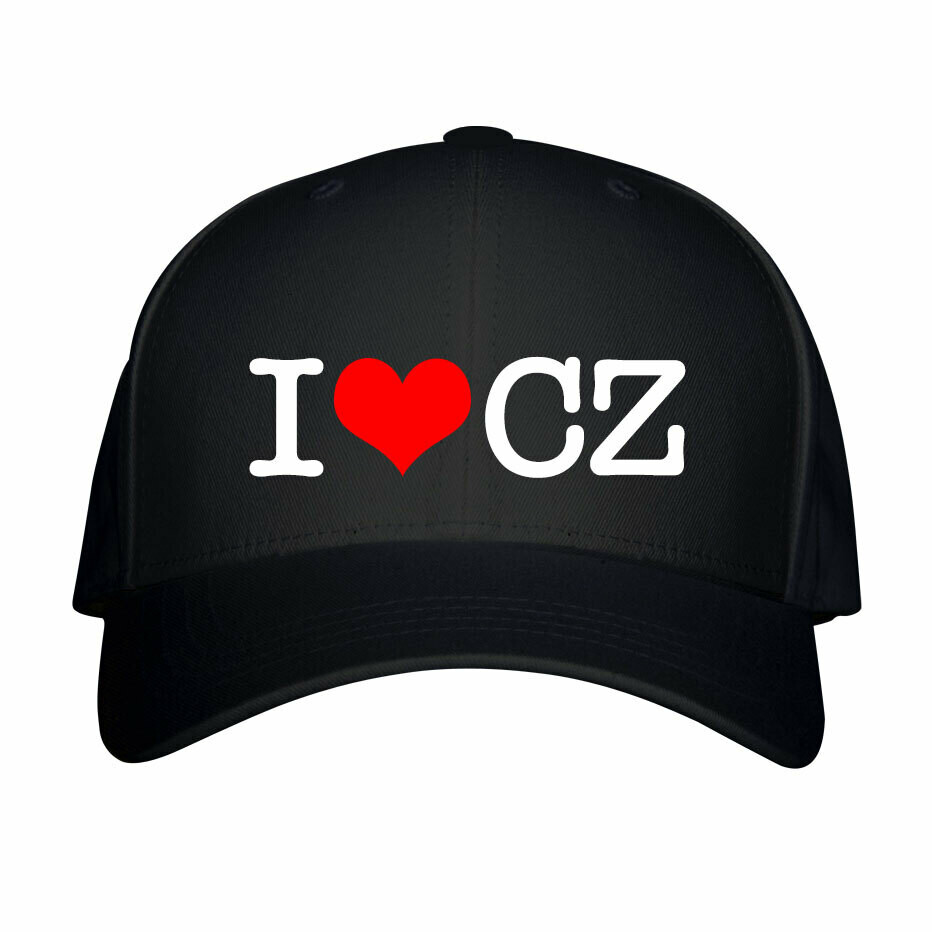 I Love CZ Black Red Unisex Snapback Hat