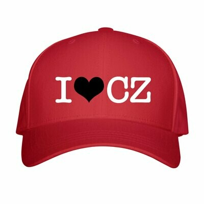 I Love CZ Red Black Unisex Snapback Hat
