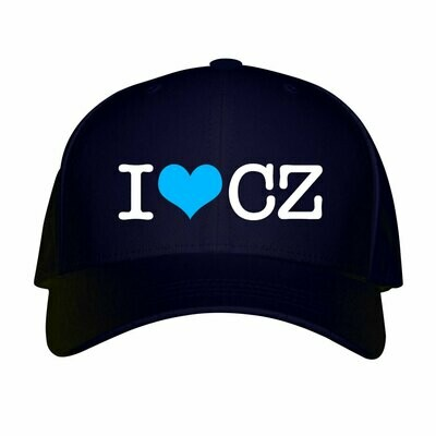 I Love CZ Navy Blue Unisex Snapback Hat
