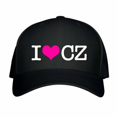 I Love CZ Black Pink Unisex Snapback Hat