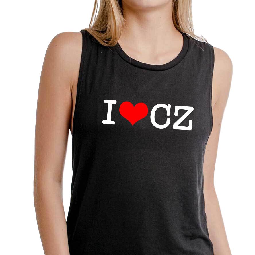 I Love CZ Black Red Women's Tank Top