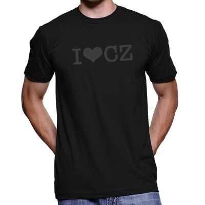 I Love CZ Black Black Men's T-Shirt