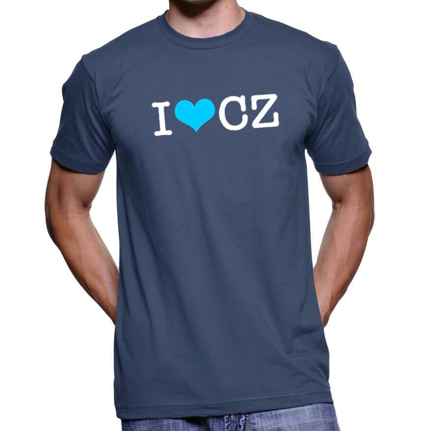 I Love CZ Navy Blue Men's T-Shirt