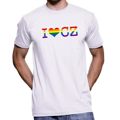 I Love CZ Pride White Men's T-Shirt