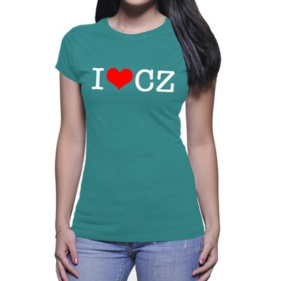 I Love CZ Teal Red Women's T-Shirt