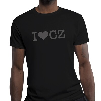 I Love CZ Fitted Black Black Men's T-Shirt