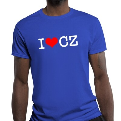 I Love CZ Fitted Heather Royal Red Men's T-Shirt