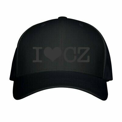 I Love CZ Black Black Unisex Snapback Hat