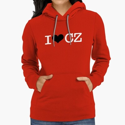 I Love CZ Red Black Women's Hoodie