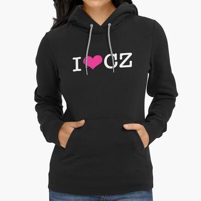 I Love CZ Black Pink Women's Hoodie
