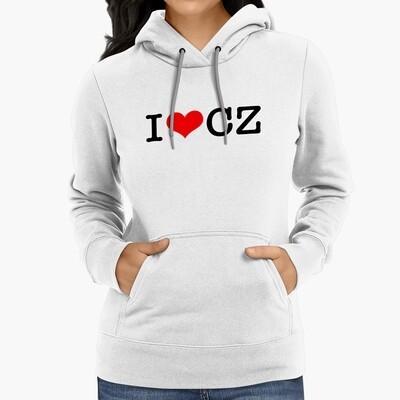 I Love CZ White Red Women's Hoodie