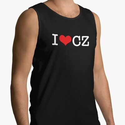 I Love CZ Black Red Men's Tank Top