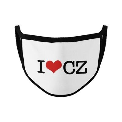 I Love CZ White Black Unisex Face Mask
