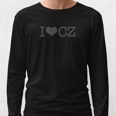 I Love CZ Black Black Long Sleeve Men's T-Shirt
