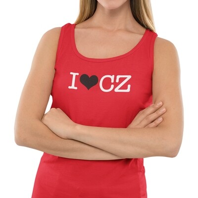 I Love CZ Red Black Women's Tank Top