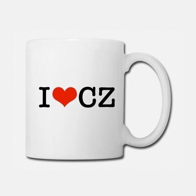 I Love CZ White Red Coffee/Tea Mug