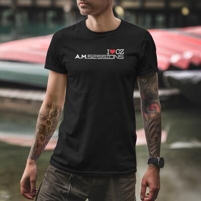 A.M. Sessions Black Red Men's T-Shirt