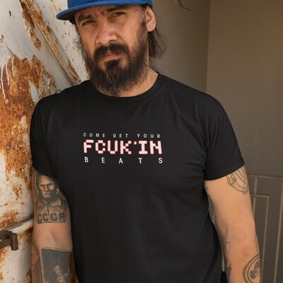 FCUK'IN Black Red Men's T-Shirt