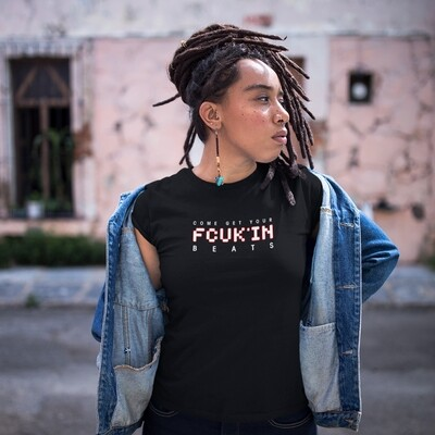FCUK'IN Black Red Women's T-Shirt