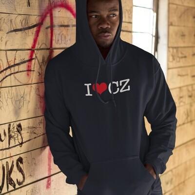 I Love CZ Black Red Men's Hoodie