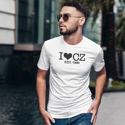 I Love CZ EST. 1996 White Black Men's T-Shirt