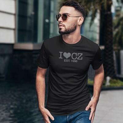 I Love CZ EST. 1996 Black Black Men's T-Shirt